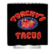 Torchy's Tacos Shower Curtain
