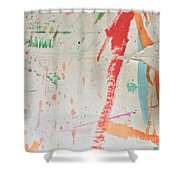 Torn To Red Line  Shower Curtain