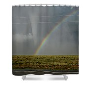 Tornado And The Rainbow Shower Curtain