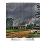 Tornado Over Madison 3 Shower Curtain