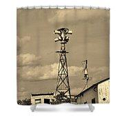Tornado Siren In A Ghost Town Shower Curtain
