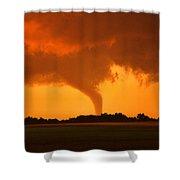 Tornado Sunset Shower Curtain
