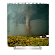 Tornado Truck Stop II Shower Curtain