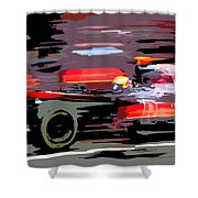 Toro Rosso Pit Shower Curtain