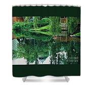 Reflections On Toronto Island Shower Curtain