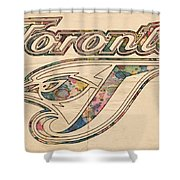 Toronto Blue Jays Logo Art Shower Curtain