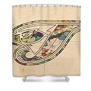 Toronto Blue Jays Poster Vintage Shower Curtain