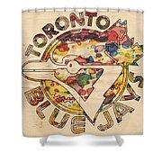 Toronto Blue Jays Vintage Art Shower Curtain