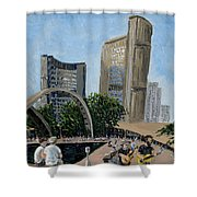 Toronto City Hall Shower Curtain