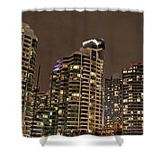Toronto Condos On A Cold Winter Night Shower Curtain