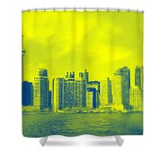 Toronto Downtown View Shower Curtain
