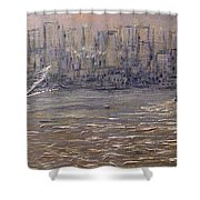 Toronto Harbor Morning Shower Curtain