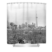 Toronto In Black And White Shower Curtain