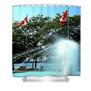 Toronto Island Fountain Shower Curtain