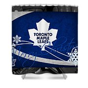 Toronto Maple Leafs Christmas Shower Curtain