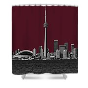 Toronto Poster Shower Curtain