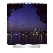 Toronto Skyline At Night Shower Curtain