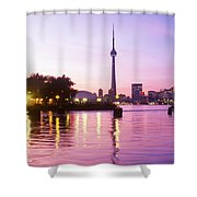 Toronto Skyline At Sunset, Toronto Shower Curtain