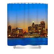 Toronto Skyline Panorama Shower Curtain