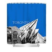 Toronto Skyline Royal Ontario Museum - Blue Shower Curtain