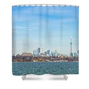 Toronto Skylines At The Waterfront Shower Curtain