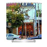 Toronto Stroll Past Fashion Stores Downtown Early Autumn Urban City Scenes Canadian Art C Spandau Shower Curtain