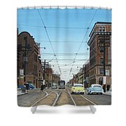 Toronto Yonge And Bloor 1954 Shower Curtain