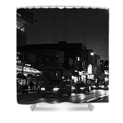 Toronto's China Town After Sunset Shower Curtain