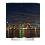 Toronto's Dazzling Skyline  Shower Curtain