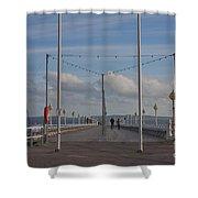 Torquay Pier Devon Shower Curtain