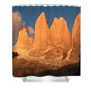Torres Del Paine Shower Curtain