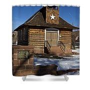 Torrey Log School And Church Utah Shower Curtain