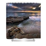 Torrey Pines Flat Rock Shower Curtain