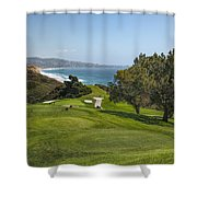 Torrey Pines Golf Course North 6th Hole Shower Curtain
