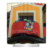 Tortilla Jos Signage Downtown Disneyland Shower Curtain