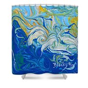 Tossed In The Waves Shower Curtain