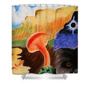 Total Eclispe                Shower Curtain