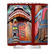 Totem 3 Shower Curtain by Theresa Tahara