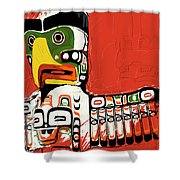 Totem Pole 02 Shower Curtain