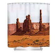 Totem Pole Buttes Shower Curtain