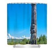 Totem Pole In Gitwangak-bc Shower Curtain