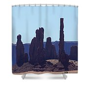 Totem Pole In Monument Valley Shower Curtain