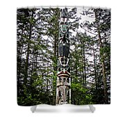 Totem Pole Of Southeast Alaska Shower Curtain by Robert Bales
