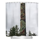 Totem Pole Shower Curtain