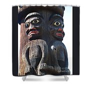 Totem Twins Shower Curtain