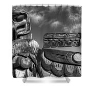 Totems 2 Shower Curtain
