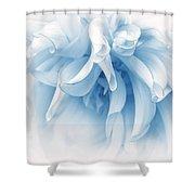 Touch Of Blue Dahlia Flower Shower Curtain