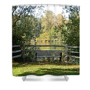 Touch Of Fall In Serenity Shower Curtain