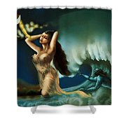 Touch Of The Beautiful Temptress Shower Curtain