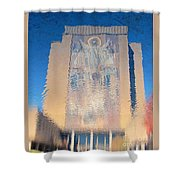 Touchdown Jesus Shower Curtain